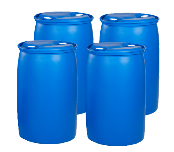 220 Litre Tighthead Plastic Drum - Pack of 4 Drums